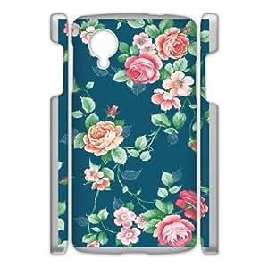 Google Nexus 5 Phone Cases White Vintage Floral Pattern FJo905998