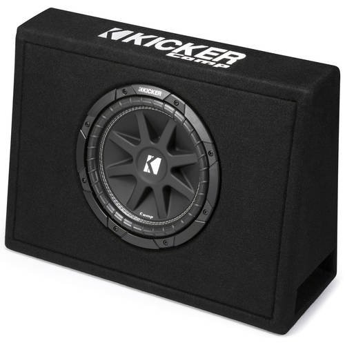 Kicker Single 10-Inch Comp 4 Ohm 150W Loaded Subwoofer Enclosure Box | 43TC104