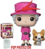 Funko Pop! Royals: The Royal Family - Queen Elizabeth II with Corgi Vinyl Figure (Bundled with Pop Box Protector Case)