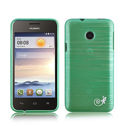 Ascend Y330 Case - Silicone Gel Back Cover for Huawei Ascend Y330, Emerald (Huawei Y330 Back Case)