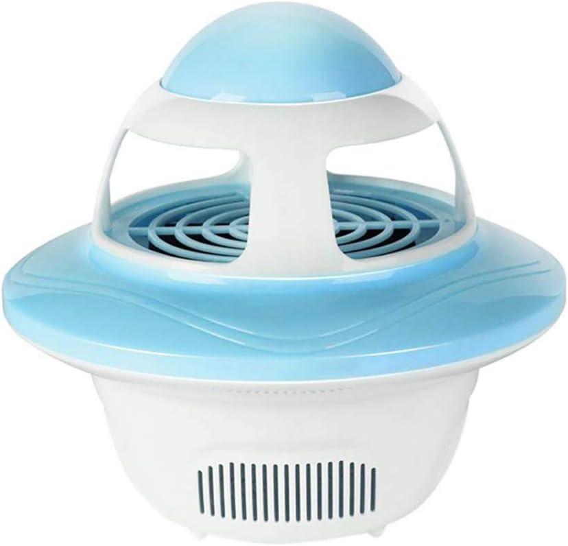 FGKLU Lampara USB para Antimosquitos, Asesino Electrónico de Insectos de Interior, con Ventilador Incorporado, No Tóxico Ecológico, para Oficina, Cocina, Dormitorio,Azul