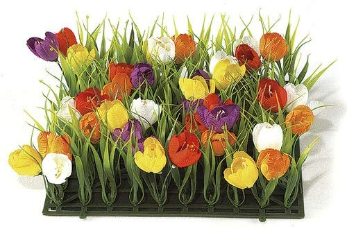 AUF001-10-Inch-Crocus-and-Plastic-Grass-Mat-Multi-Colored-Signature-Foliage