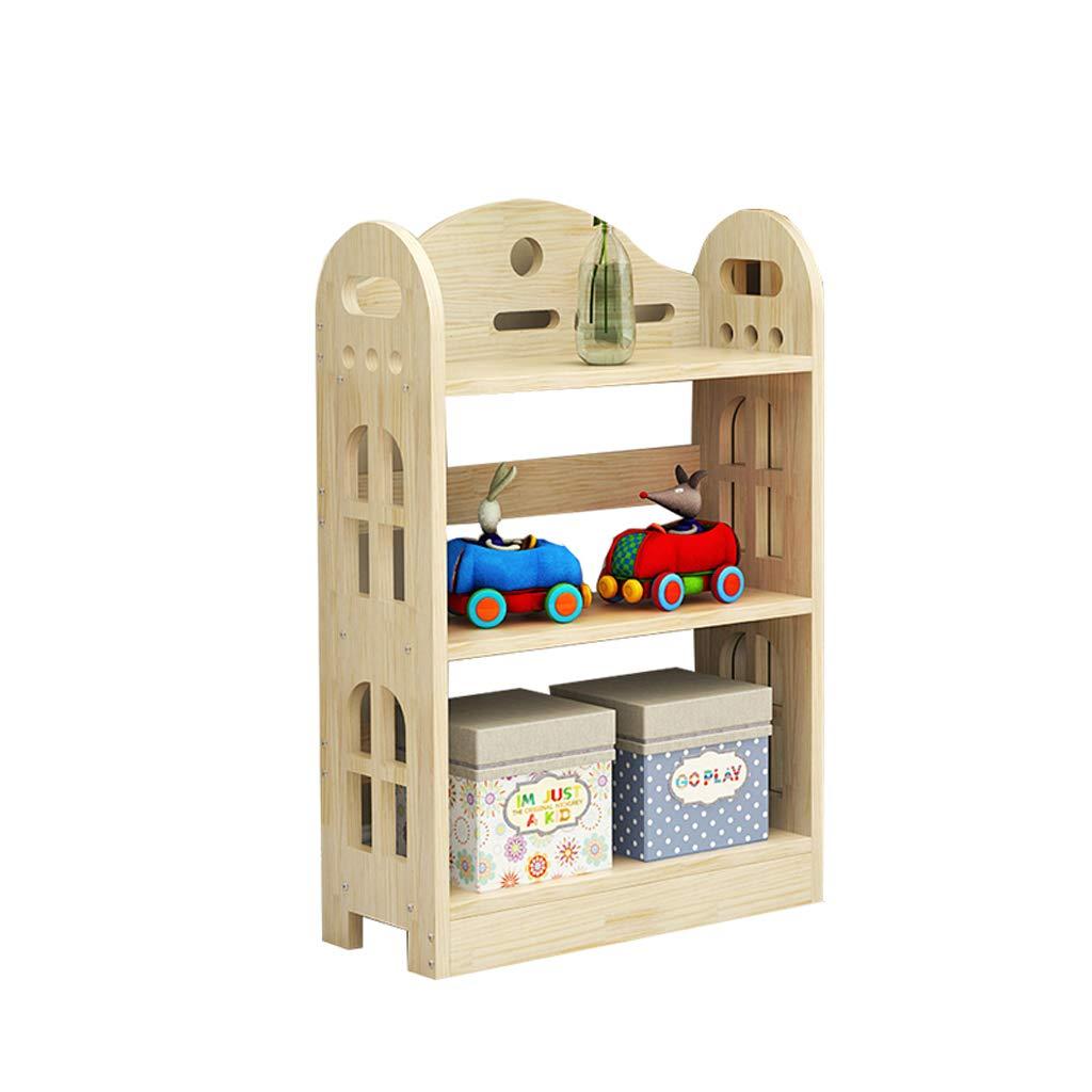 Haoli-sj Scaffale per scaffali in Legno massello Pavimento per Salotto Moderno Semplice Scaffale per scaffali Multistrato Scaffale Creativo per Bambini Libreria a casa (Dimensioni   80  24  92cm)