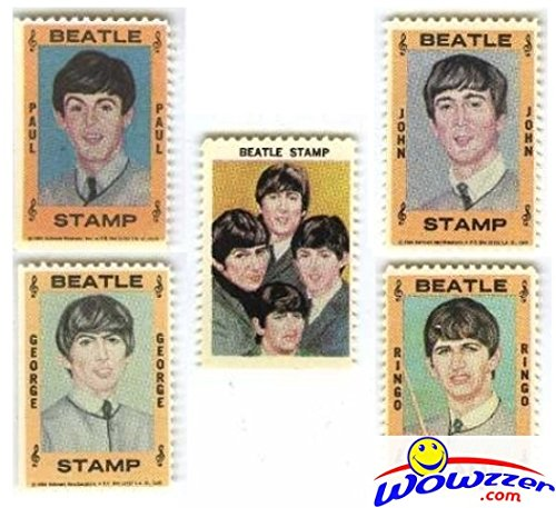 - 1964 Hallmark BEATLES Complete 5 Piece Stamps Set Vintage Rare! Includes 1964 Hallmark Beatles Stamps of John Lennon, Paul McCartney,George Harrison,Ringo Starr and Beatles Group ! Over 50 years Old !