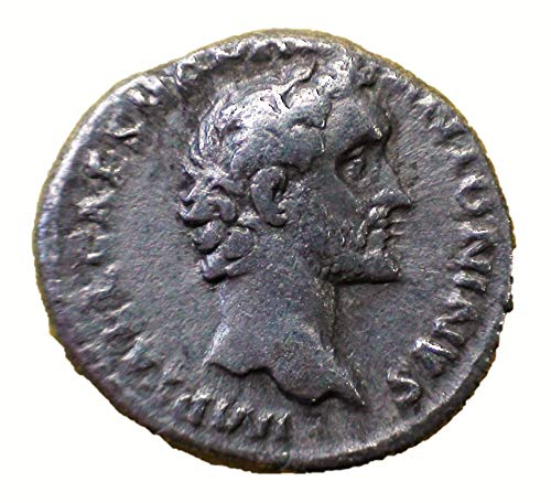 IT 138-161 AD Ancient Imperial Rome Emperor Antoninus Pius Antique Roman Silver Coin Denarius Good