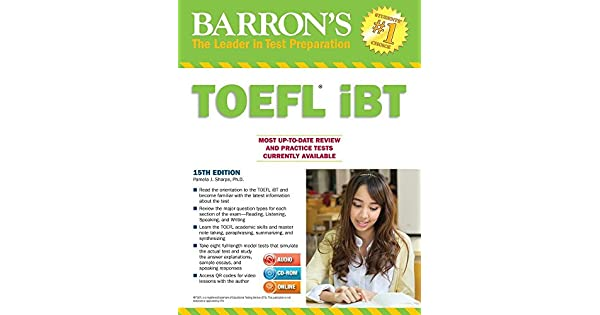 Barrons toefl ibt with cd rom and mp3 audio cds 15th edition barrons toefl ibt with cd rom and mp3 audio cds 15th edition livros na amazon brasil 9781438076256 fandeluxe Choice Image
