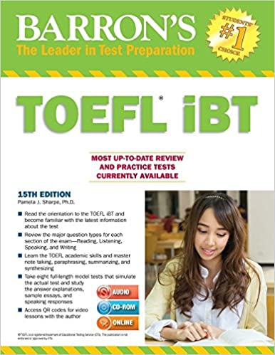 Barrons toefl ibt with cd rom and mp3 audio cds 15th edition barrons toefl ibt with cd rom and mp3 audio cds 15th edition livros na amazon brasil 9781438076256 fandeluxe Images