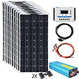 XINPUGUANG 100w Flexible Solar Panels 24V 1000W Solar System Kit Monocrystalline Cell Module 45A...