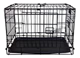 Simply Plus 22″ Folding Double Door Dog Crate/Cage Without casters