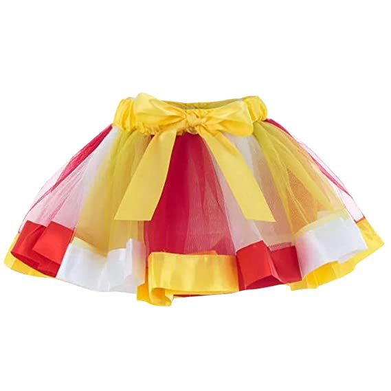 FRAUIT Falda Tul Mujer Multicolor Mini Falda de Ballet Tutú Falda ...