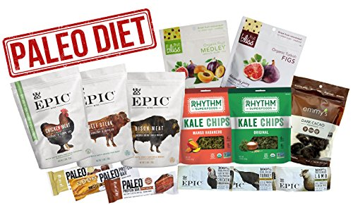 Amazon's Best Paleo Diet Variety Snack Pack of 14 Delicious Paleo Food Snacks