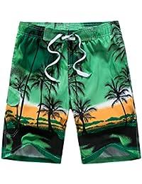 Men's Beach Surfing Boardshorts Swimming Trunks Hawaiian Shorts