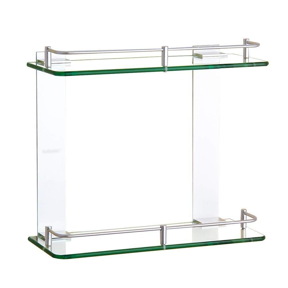 Size : 350mm 2nd Floor Shower Rack Wall Mount Storage Shelf Rectangular Shelf Suitable for Shower Room Creative Bathroom Shelf