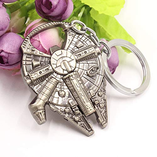 Openers - Fashion Beer Opener Keychain Euro American Movie Star Wars Key Chain Metal Bottle Spaceship Silver - Pump Yellow Opener Novelty Shower Gold Openers Skeleton Insert Iron Hand Recharg