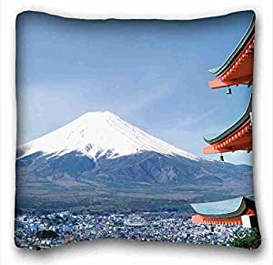 Generic Personalized City Custom Cotton & Polyester Soft Rectangle Pillow Case Cover 16x16 inches (One Side) suitable for Twin-bed