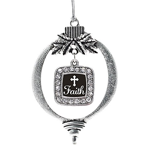 Inspired Silver Faith Classic Holiday Christmas Tree Ornament With Crystal Rhinestones (Tone Crystal Christmas Tree)