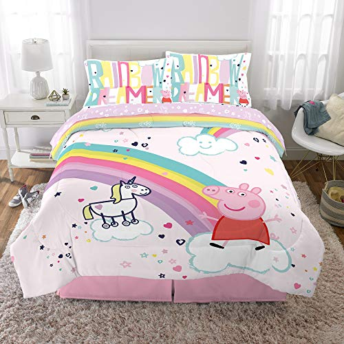 Franco Kids Bedding Super Soft Comforter and Sheet Set, 5 Piece Full Size, Peppa Pig