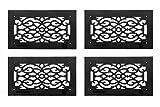 Grille Black Aluminum Air Grille Cast Aluminum W/ Logo Overall 8 X 14
