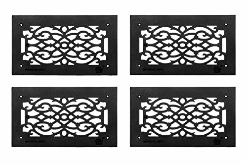 Grille Black Aluminum Air Grille Cast Aluminum W/ Logo Overall 8 X 14 by Renovator's Supply