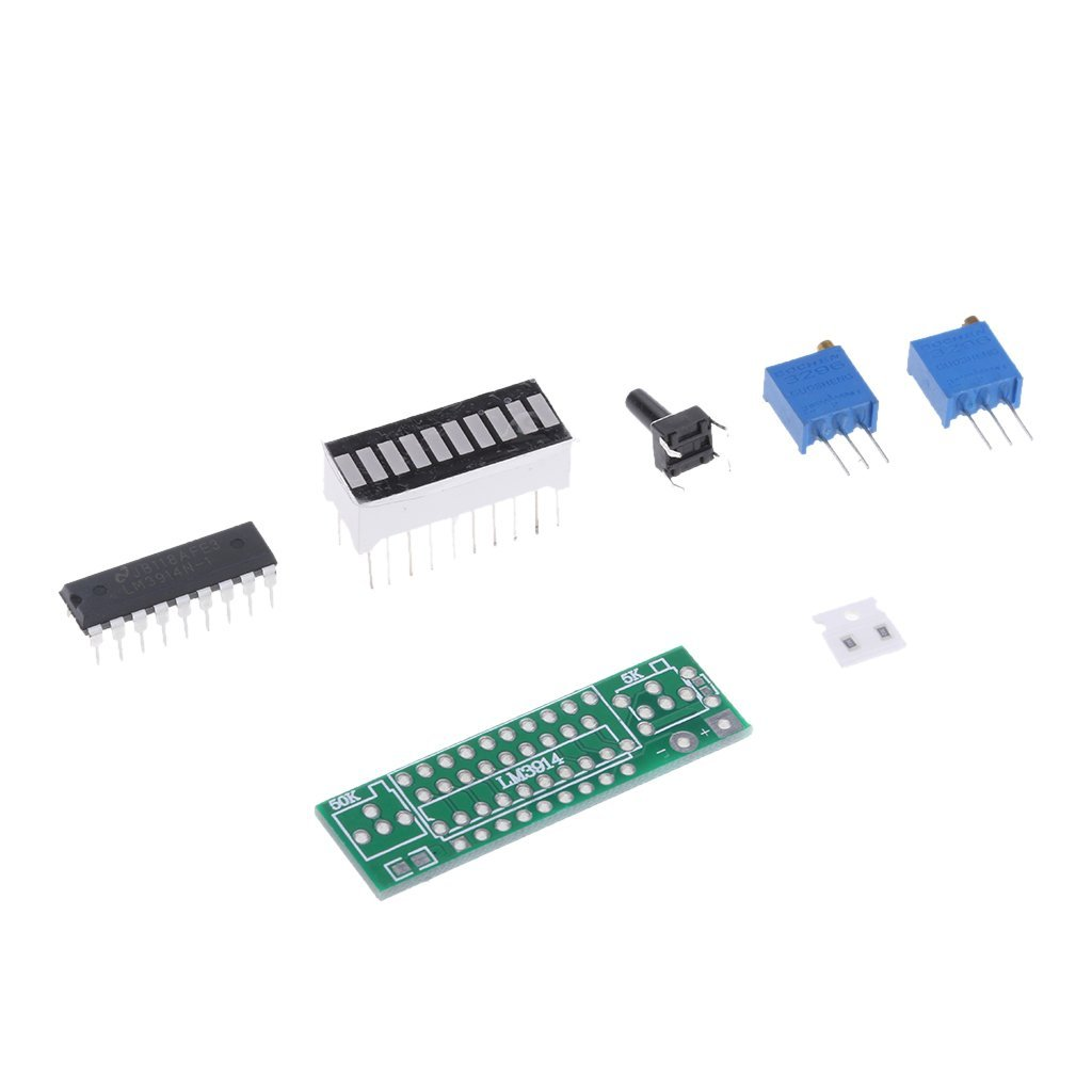 Homyl Lm3914 10 Segment 5v 12v Battery Capacity Power Led Indicator Basic Circuit For Display Kits Blue Industrial Scientific