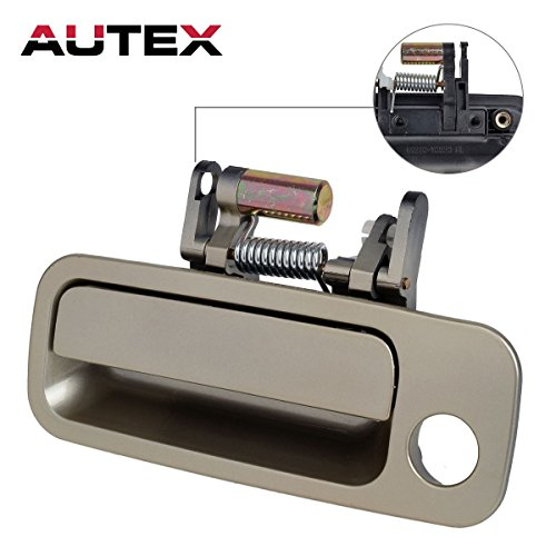 AUTEX 1pcs Exterior Front Left Driver Replacement Door Handle for 1997 1998 1999 2000 2001 Toyota Camry (Built in Japan) (OE No. 79426CD/69220-AA010) (Outside Left Toyota Camry Door)