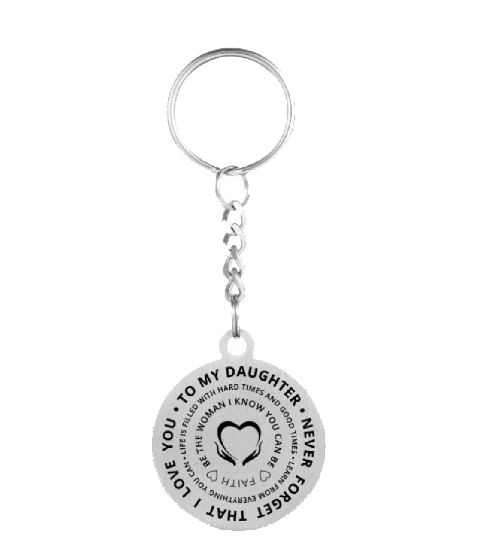 To My Son Or Daughter Never Forget That I Love You Pendant Necklace Keychain