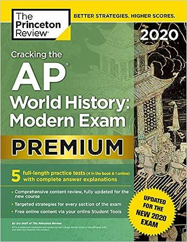 Best History Books 2020.Cracking The Ap World History Modern Exam 2020 Premium