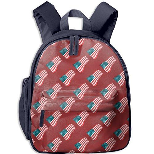 Kids'American Flag Seamless Canvas Preschool Backpack - Integrated Tablet ()