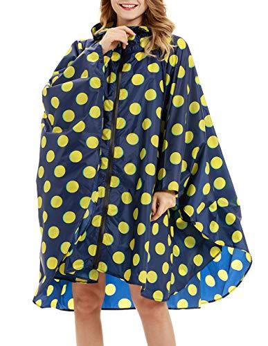 (Buauty Stylish Unisex Zipper Hooded Waterproof Rain Poncho)