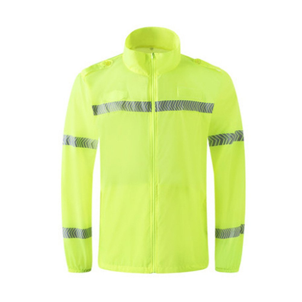 Hogear Sun UV Protection Hi Vis Reflective Long Sleeve Shirt Safety Workwear,S
