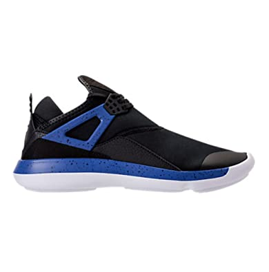 3064b2743 NIKE Air Jordan Fly 89 Mens Shoes Black Game Royal-White (940267-