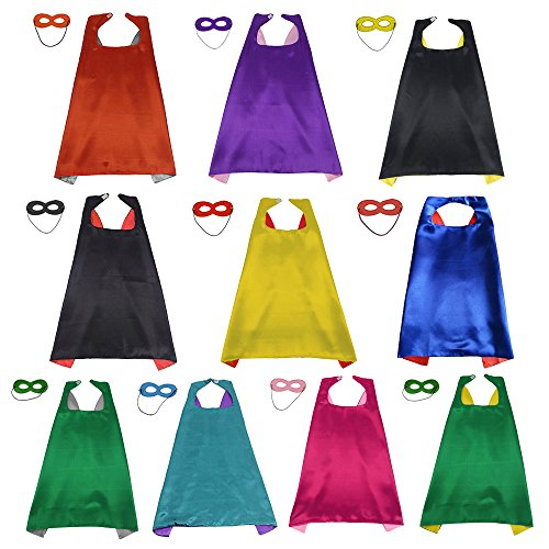 LYNDA SUTTON Superhero Cape and Mask Set for