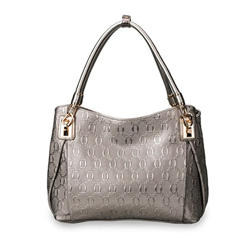 cuir HAOYUXIANG unique Silver Fashion à lady sac femme sac bandoulière tendance Silver Couleur main sac à en rrPwU