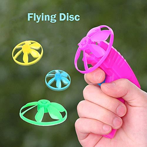 CMrtew ❤️ 1 Piece Kids Flying Saucers Discs Flywheel Plastic Sporting Toys for Children Outdoor Novelty Games Exercise Boys Girls (Random, 15x10x2cm)]()