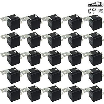 25 relays 30 40 amp 5 pin spdt 12 v dc. Black Bedroom Furniture Sets. Home Design Ideas