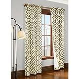 Commonwealth Trellis 95″ Grommet Curtain Panel in Khaki (Set of 2) For Sale
