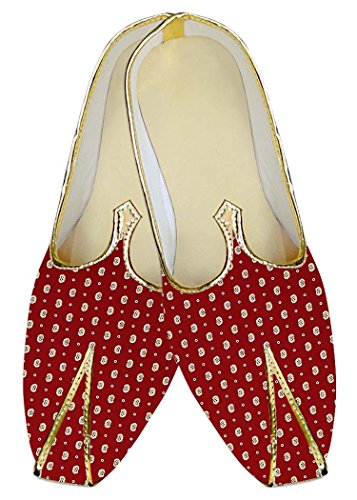 INMONARCH Red Crimson Shoes MJ014494 Wedding Mens Printed qq0rvP