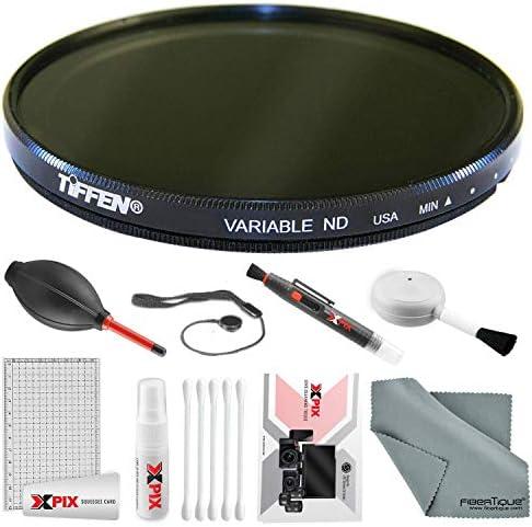 Tiffen 62mm 可変NDフィルター Xpixフォトトラベルデラックスクリーニングキット付き