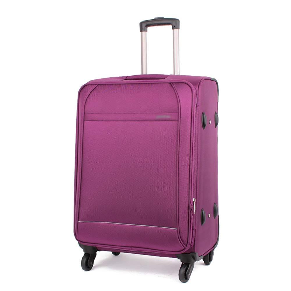 DS-トロリー トロリーケース - 大容量スーツケースオックスフォードクロス防水スチューデントトロリーケースユニバーサルホイール防水性と装着性のあるバッグ3色2サイズ && (色 : Purple, サイズ さいず : 20 Inch) 20 Inch Purple B07L3RXKN6