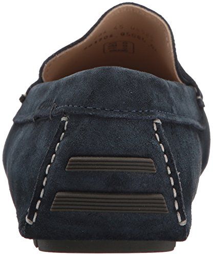 Ecco Mens Dynamique Moc 2.0 Penny Slip-on Mocassins Denim Bleu