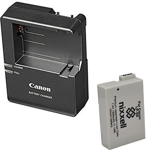Canon LC-E8 Charger for Canon LP-E8 Li-ion Battery compatible with Canon EOS Rebel T2i, T3i, T4i, T5i, EOS 550D, EOS 600D, EOS 650D, EOS 700D DSLR Digital Camera + Bonus Battery!