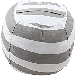 TraveT Large Canvas Storage Bean Bag Chair, Kids Love Store Extra Blankets & Pillows