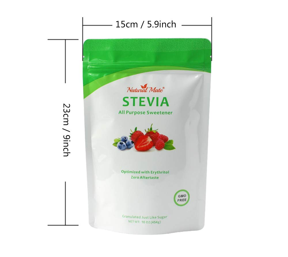Natural Mate Granular Sweetener, Stevia and Erythritol, 1 Pound, (Pack of 3) by Natural Mate (Image #5)