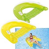 """Salón inflable flotante Intex Sit N, 60 """"X 39"""", 1 paquete (los colores pueden variar)"""