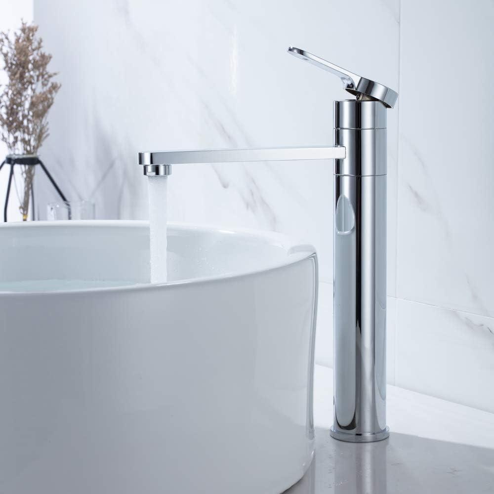Umi. by Amazon - 17 ° rotatif Robinet salle bain avec Haut Robinet lavabo  pour Lavabo ou Vasque de Salle Bain,Chaude et Froide Réglable de Mitigeur