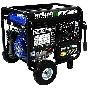 DuroMax XP10000EH, 8000 Running Watts/10000 Starting Watts, Dual Fuel Powered Portable Generator