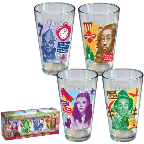 The Wizard of Oz Movie Characters Pint Glasses (Set of 4)