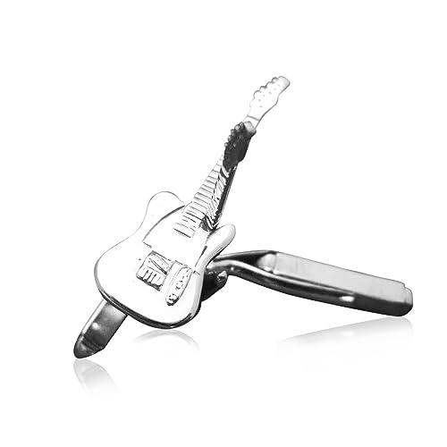 Anillo de los hombres de plata de ley mancuernas de la guitarra eléctrica Fender Telecaster: Guitar-Necklace: Amazon.es: Joyería
