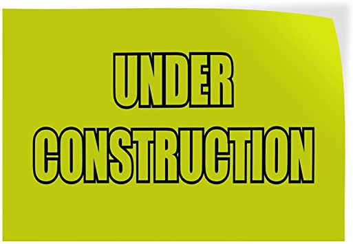 69inx46in, Decal Sticker Multiple Sizes Open During Remodeling Yellow Business Business Open During Remodeling Outdoor Store Sign Yellow