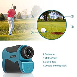 Primacc Range Finder 600 Yards, Mini Clear Golf Rangefinder Laser Hunting Range Finder with 6x Magnification and Battery for Golf Ball, Hunting